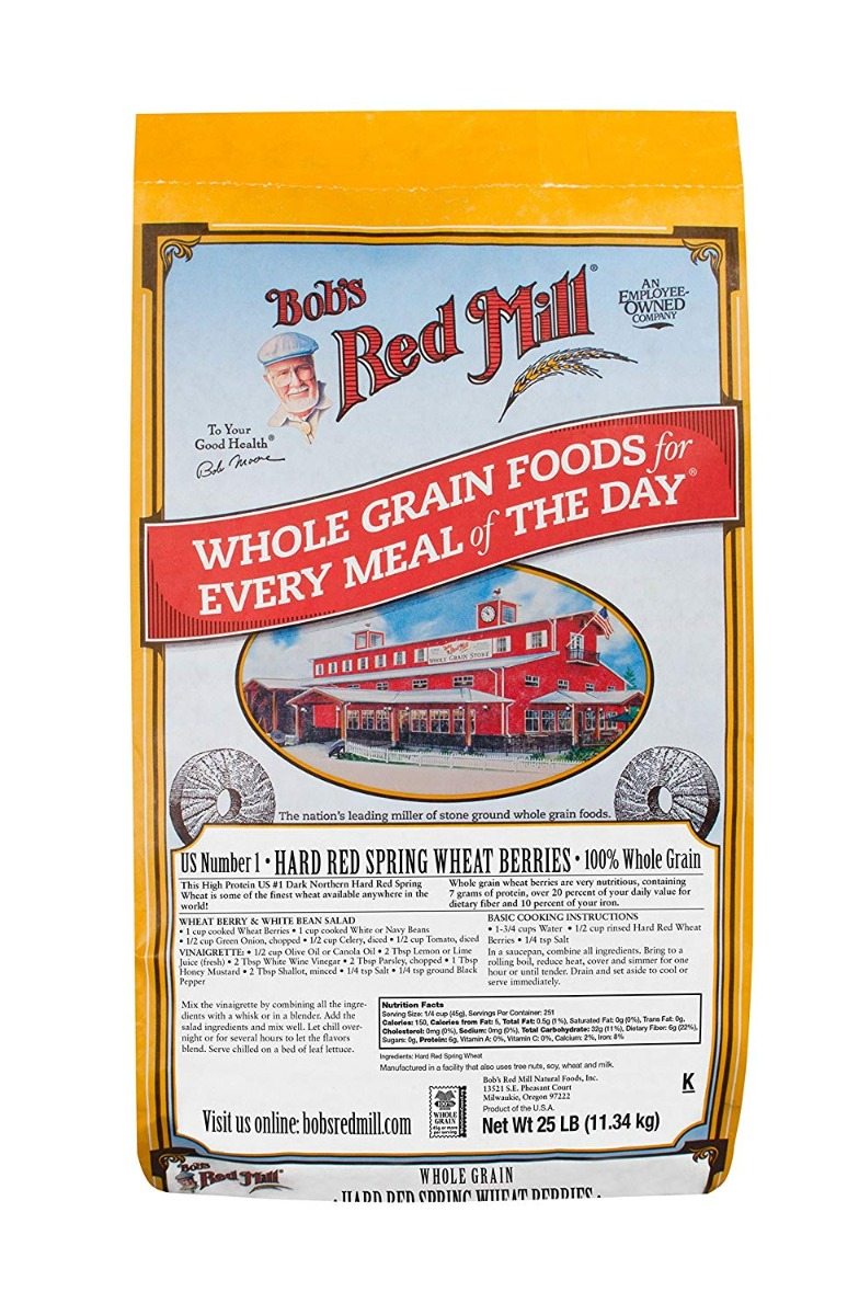BOB'S RED MILL: Hard Red Spring Wheat Berries, 25 lb