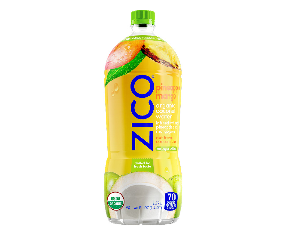 ZICO: Coconut Water Pineapple Mango Juice Blend, 1.37 lt